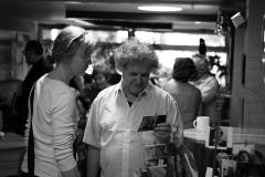 Die Ratinger Buchhändler Anne Gansen und Bernhard Schultz