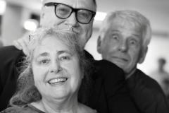 Barbara Ming, Lorenz Görtzen (Gitarrist und Sänger) und Ulrich Scharfenorth